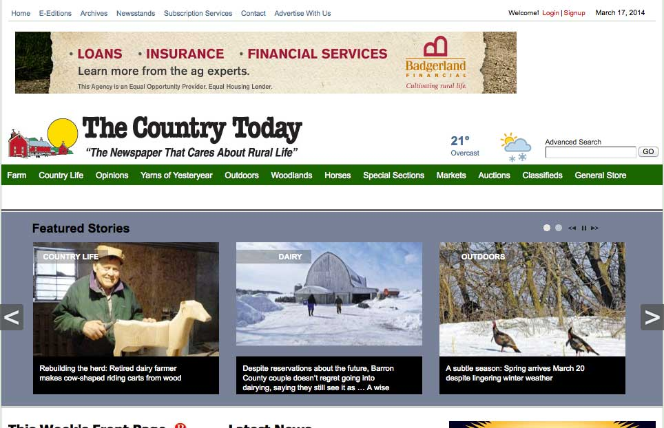 "Century Farm Crafts Featured in ""The Country Today"""